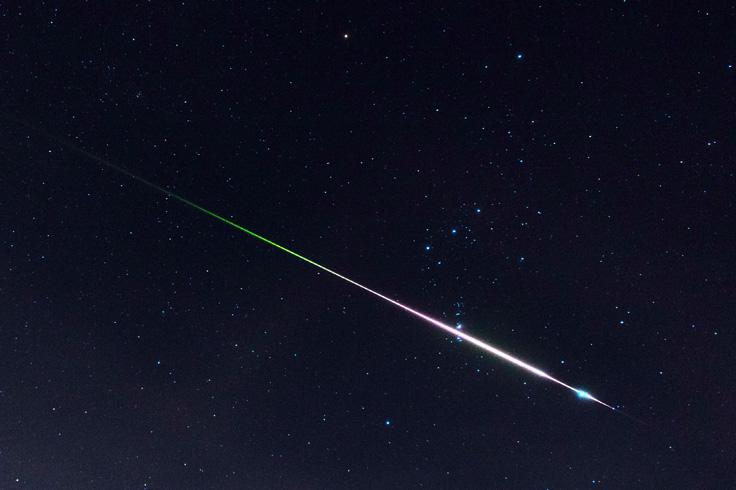 Leonid fireball crossing Orion