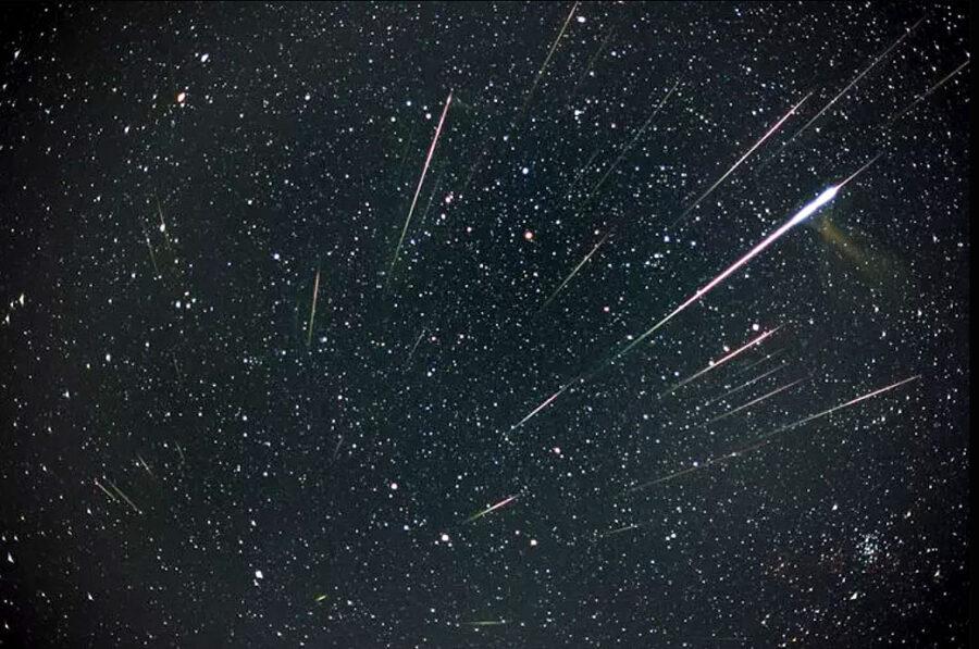 Bright Leonid meteors (composite image)