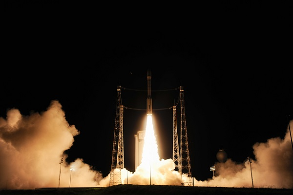 The launch of LISA Pathfinder from Kourou. ESA–Stephane Corvaja, 2015