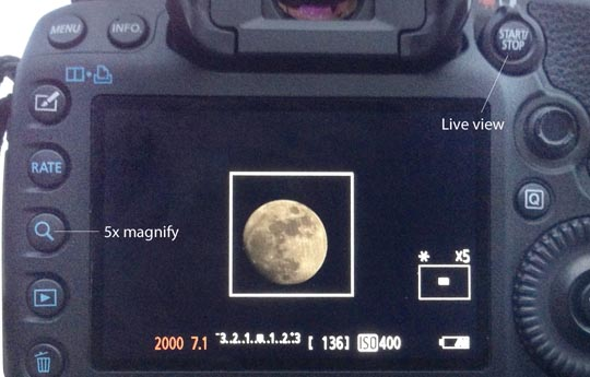 Lunar live view demonstration