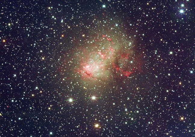 Standout starburst galaxy