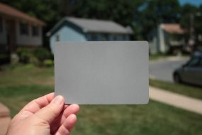 Digital Gray Card - the best target to set an accurate custom white balance (CWB).
