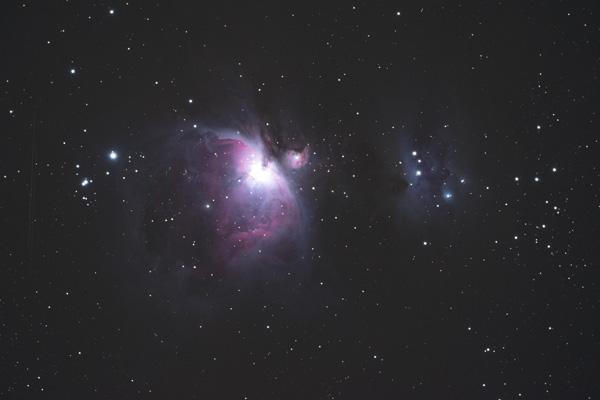 Corrected image of Orion Nebula