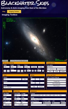 The Imaging Toolbox can help you plan an astroimaging session