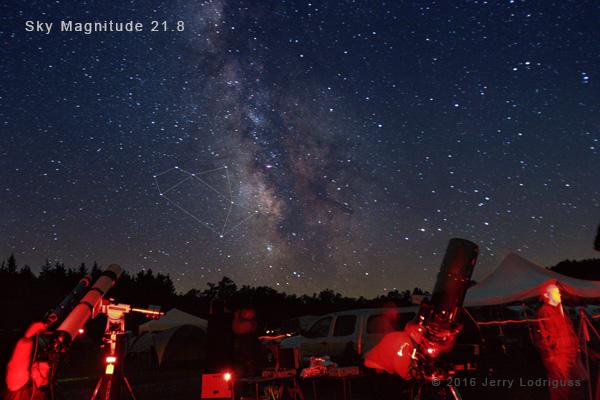 True dark skies for astrophotography