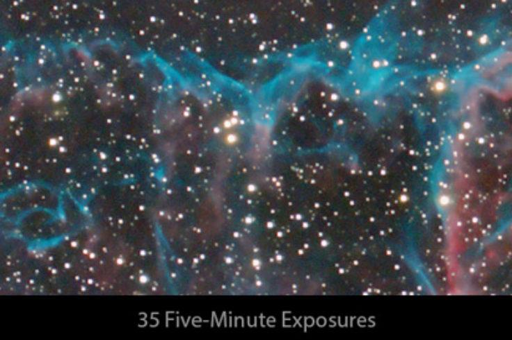 Veil Nebula - stacked images
