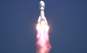 The launch of the Soyuz-2.1a carrier rocket from the Vostochny Space Launch Centre.http://en.kremlin.ru/