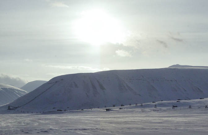 "Longyearbyen on ""eclipse day""  in 2012"