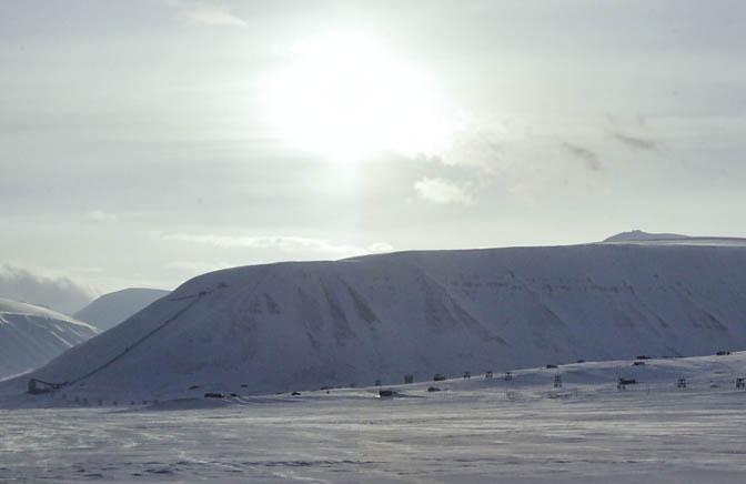 """Longyearbyen on """"eclipse day""""  in 2012"""