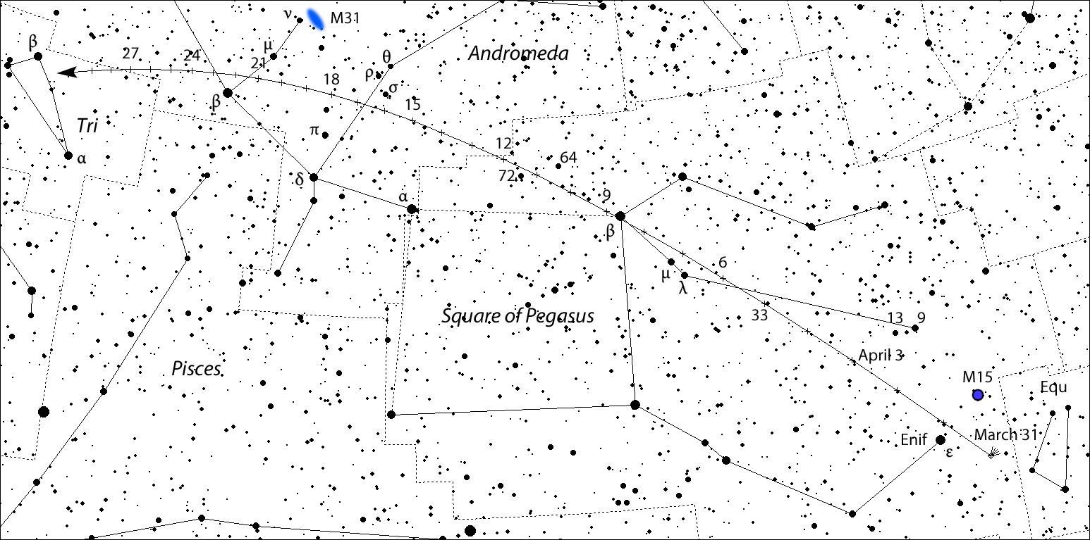 Comet Nicks the Square