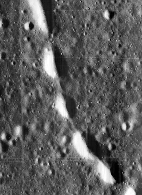 Lunar orbiter close-up