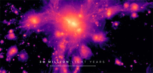 Simulated Lynx image of cosmic web