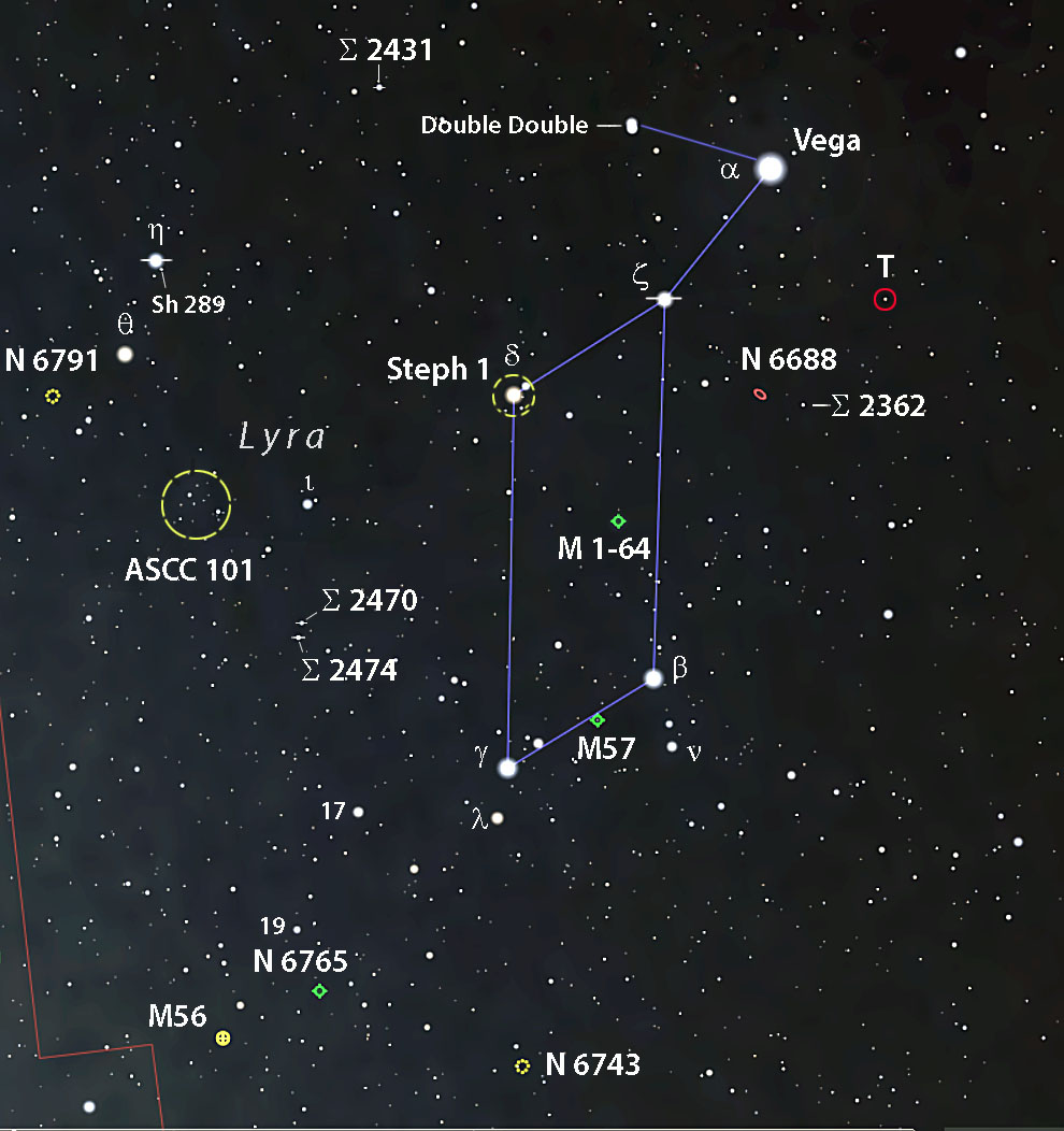 Lyra highlights map
