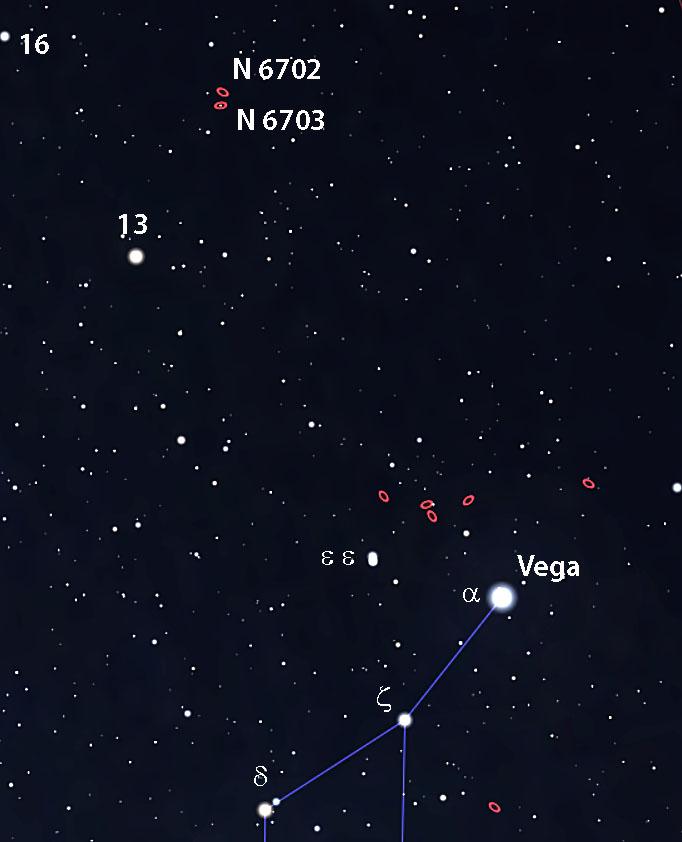 NGC 6702 and NGC 6703 locator
