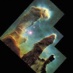 Astronomers estimate that R, the rate at which stars are born in our galaxy, is currently about 1 per year. It was higher in the distant past. Here newborn stars emerge from giant gas pillars in M16, the Eagle Nebula, as stellar winds from their brilliant older  siblings (outside the frame) blow away the gas and dust.