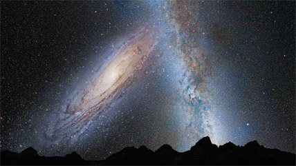 View of M31 in 3¾ billion years