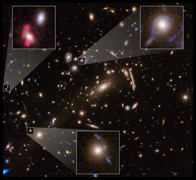Small-scale lenses in a galaxy cluster