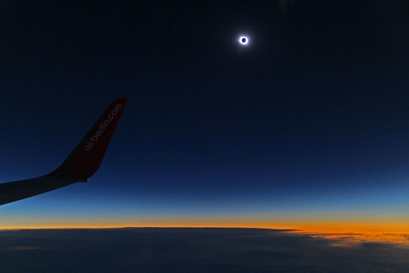 View of totality from 35,000 feet.