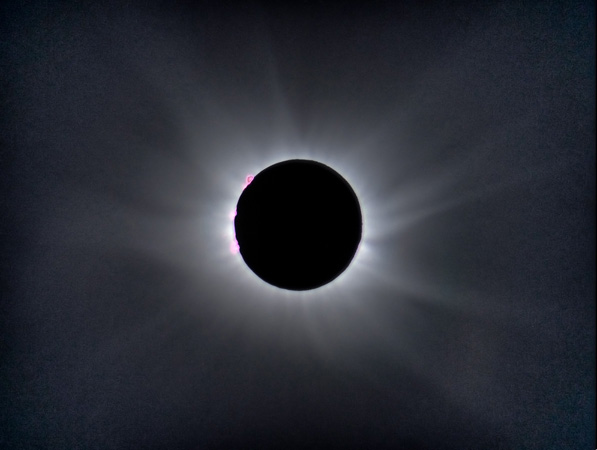 Sun's corona on March 20, 2015