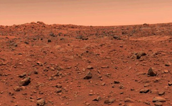 Viking 1's view on Mars