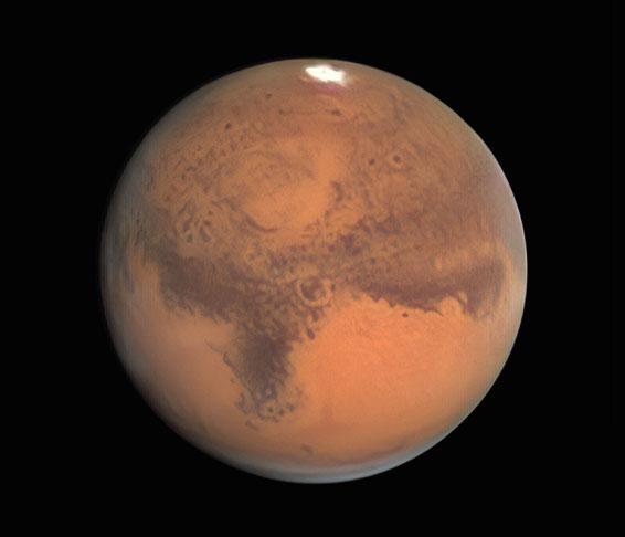 Albedo markings on Mars