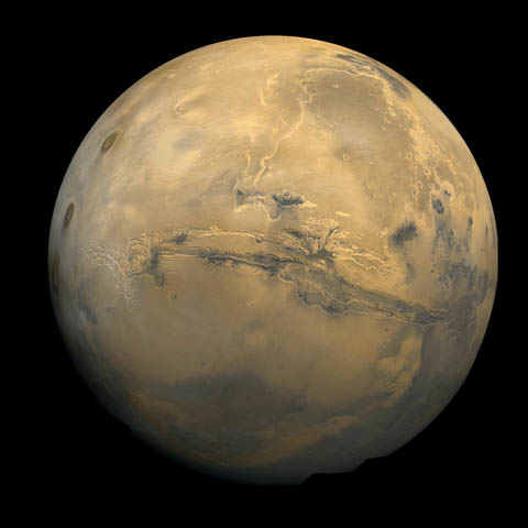 Mars and Valles Marineris