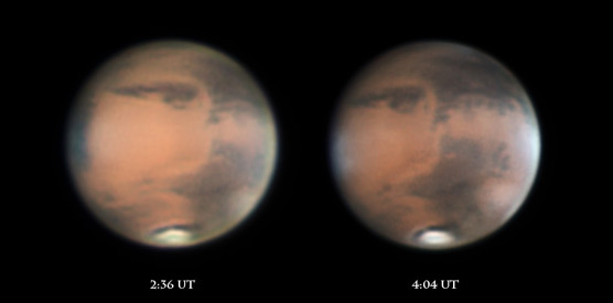 Mars on the night of Feb. 24-25, 2012
