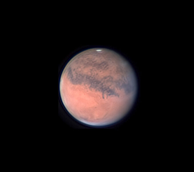Mars with Gomer Sinus and Gale Crater