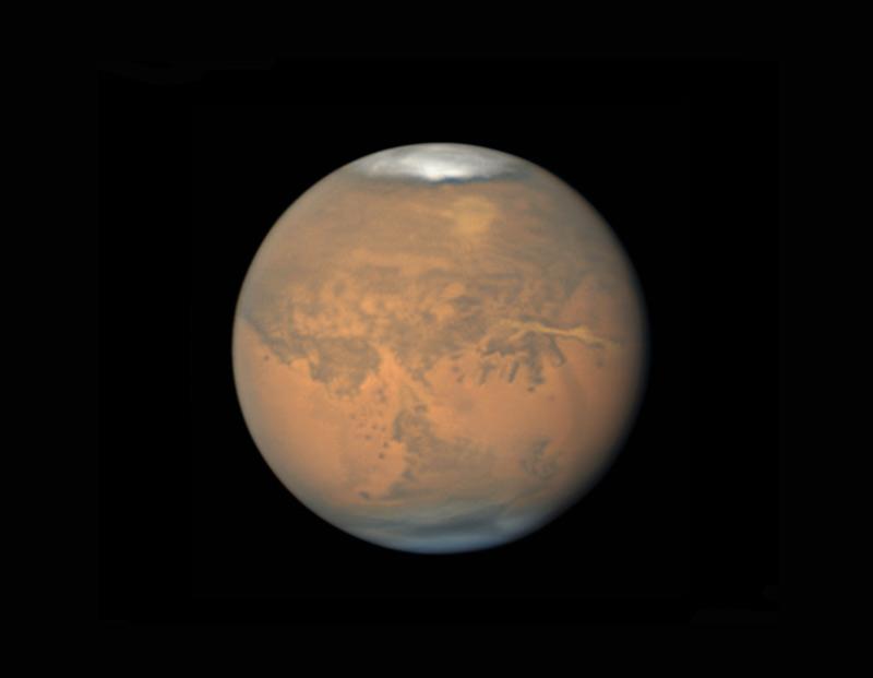 Mars on August 9, 2018