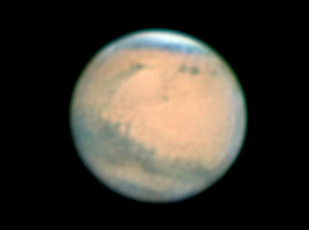 Mars on evening of Dec. 31, 2007