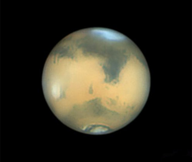 Mars on April 8th, imaged by Anthony Wesley