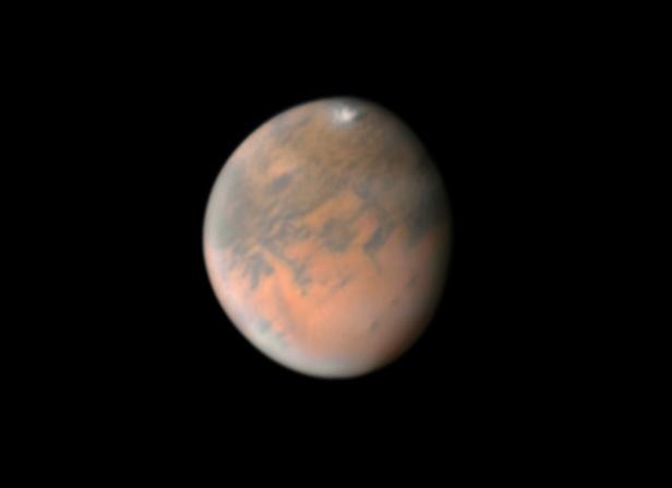 Mars on Dec. 25, 2018