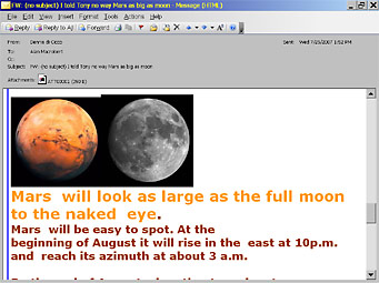 Mars Hoax screen shot