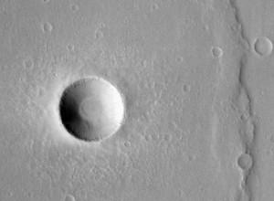 Fresh Martian crater