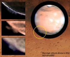 Mars plume images
