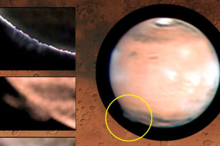 clouds on Mars 2012
