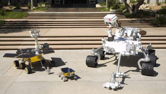 Mars rovers compared