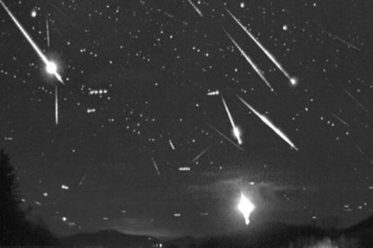 Taurid fireballs, composite image, November 3-4, 2015