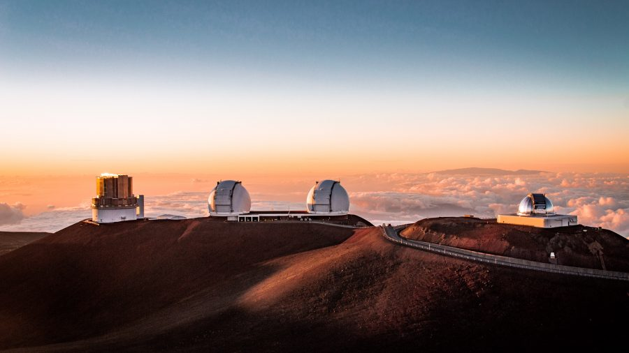 Sunset on Mauna Kea's summit
