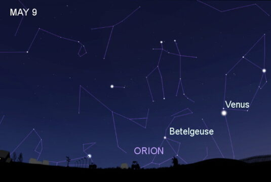 Orion on May 9th