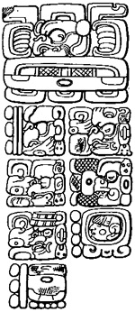 Mayan inscription
