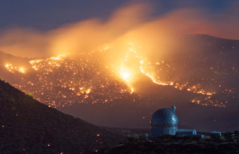 Wildfire near McDonald Observatory