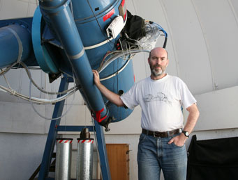 McNaught and his telescope