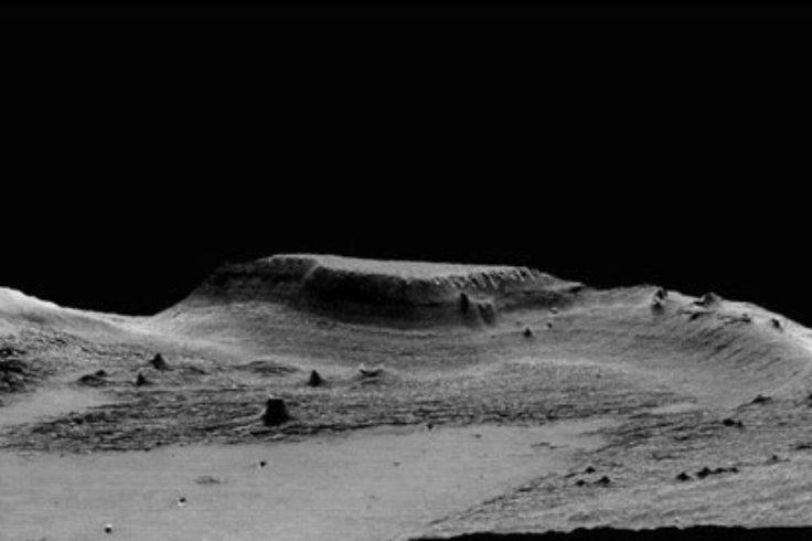 Hill on Medusae Fossae Formation
