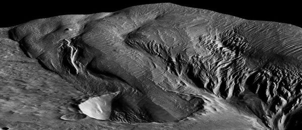 Infilled crater