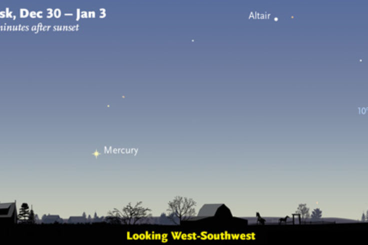 Where to find Mercury (Dec. 30th to Jan. 3rd)