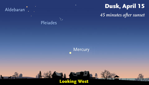 Mercury on April 15th