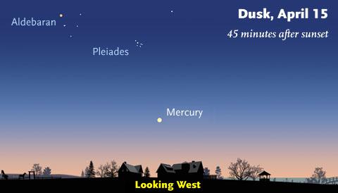 Mercury on April 15th