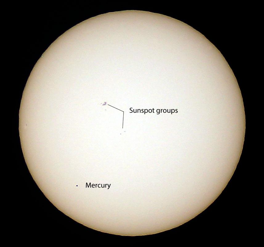 Transit and sunspots