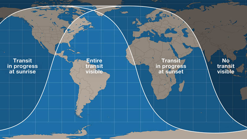 Transit visibility map
